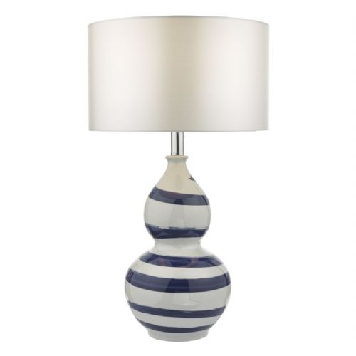Loen Table Lamp White & Blue Base Only LOE4223